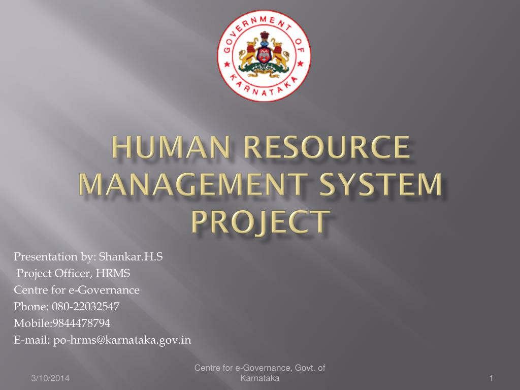 human resource management system project l.