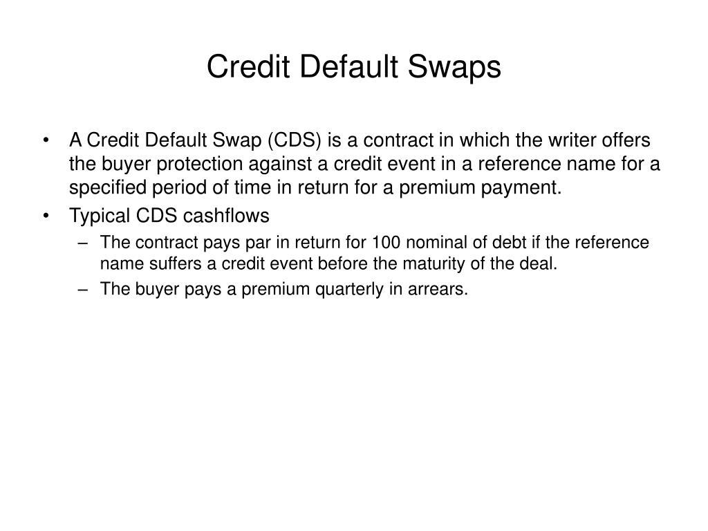 credit default swaps l.