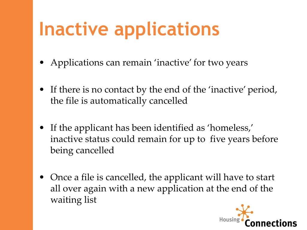 Inactive applications