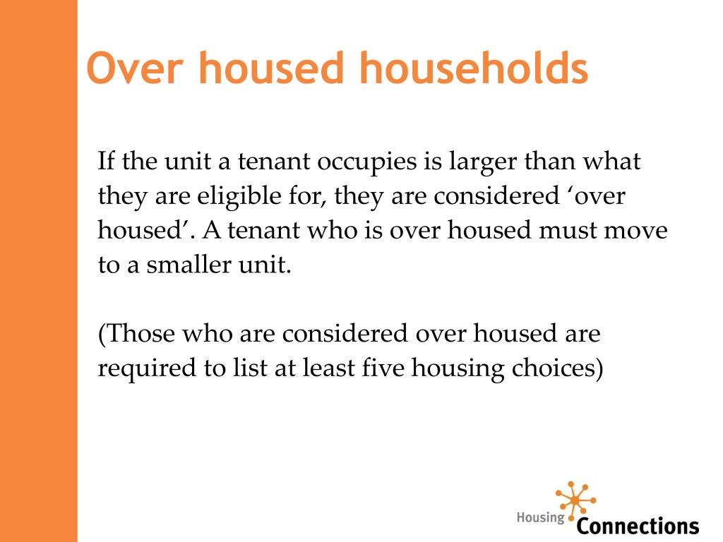 Over housed households