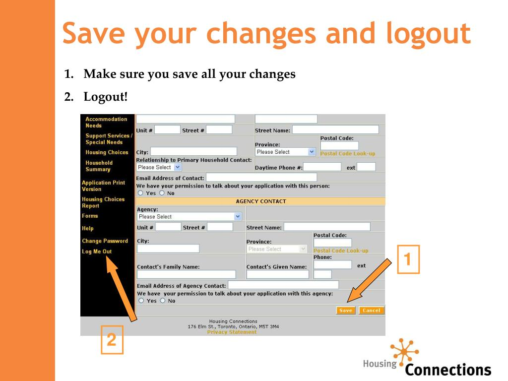 Save your changes and logout