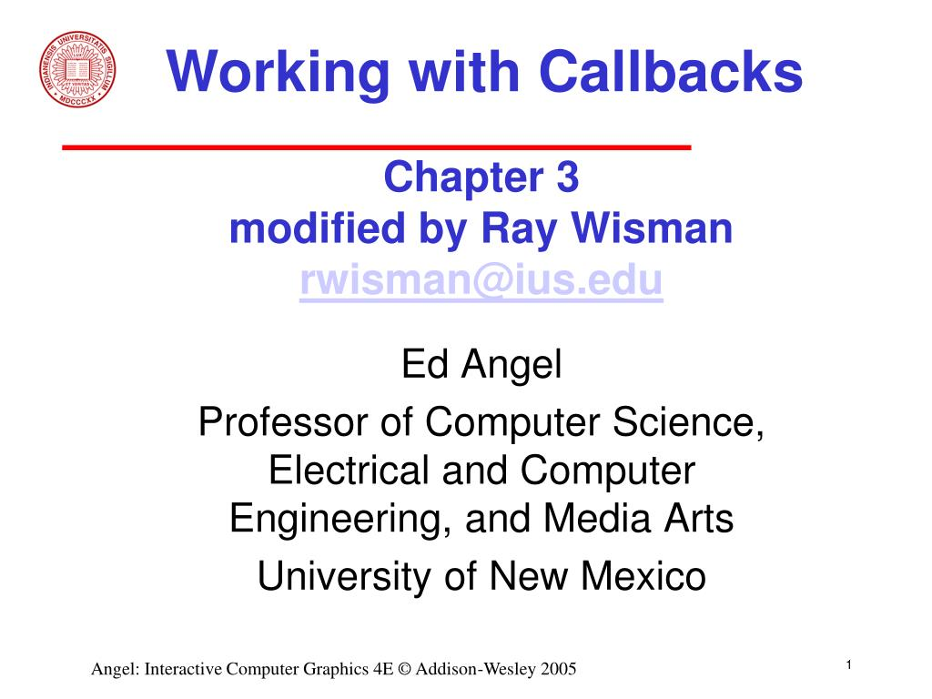 Working with Callbacks