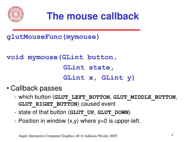 The mouse callback