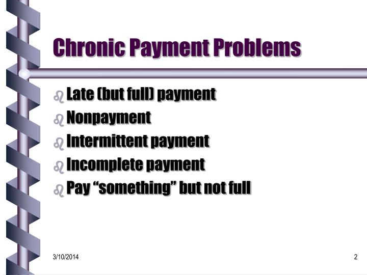 Chronic payment problems