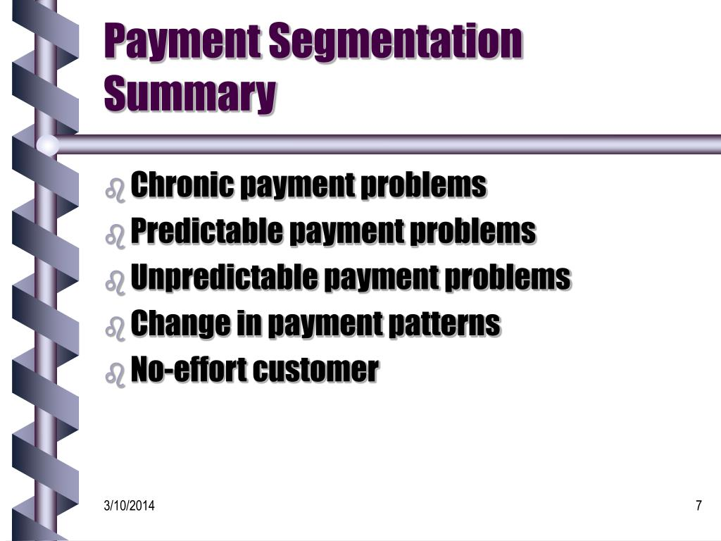 Payment Segmentation Summary