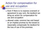 action for compensation for use and occupation