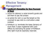 effective tenancy management