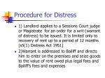 procedure for distress