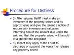 procedure for distress8