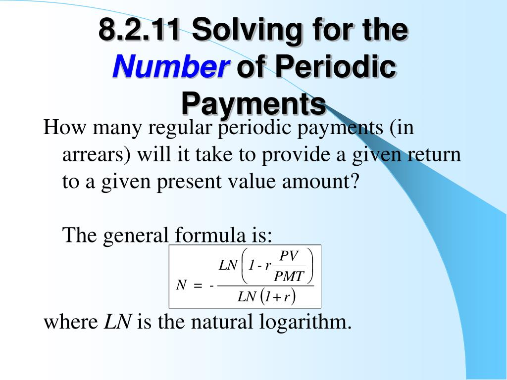 8.2.11 Solving for the