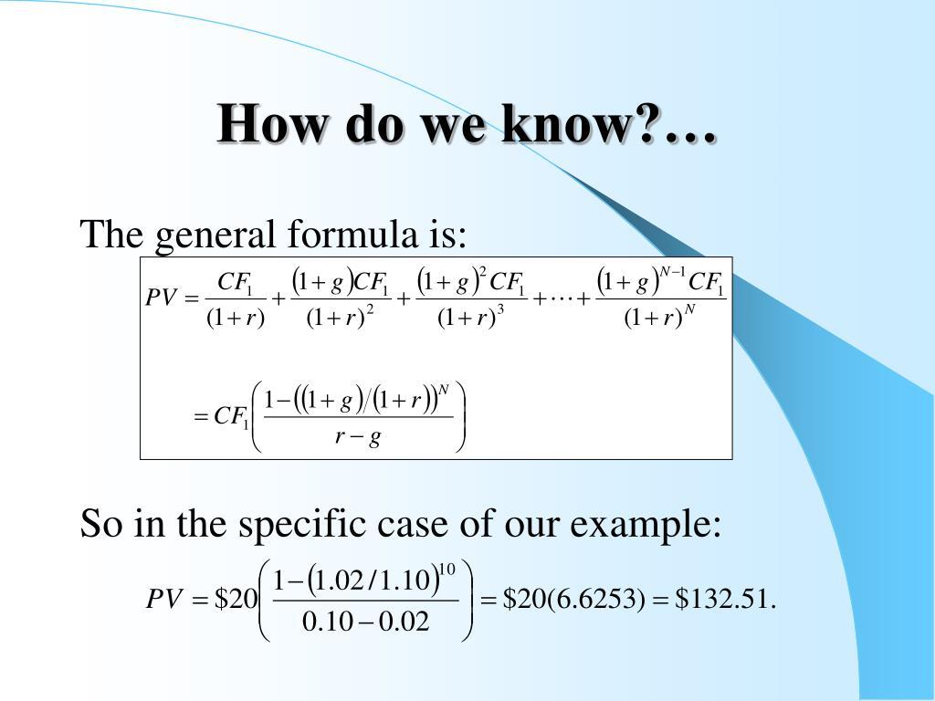 How do we know?…