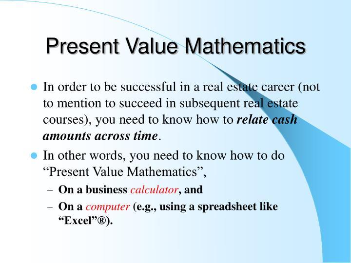 Present value mathematics
