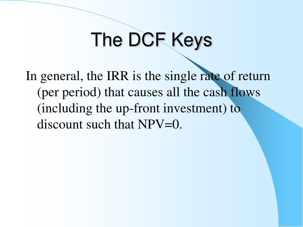 The DCF Keys