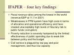 ifaper four key findings