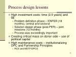 process design lessons