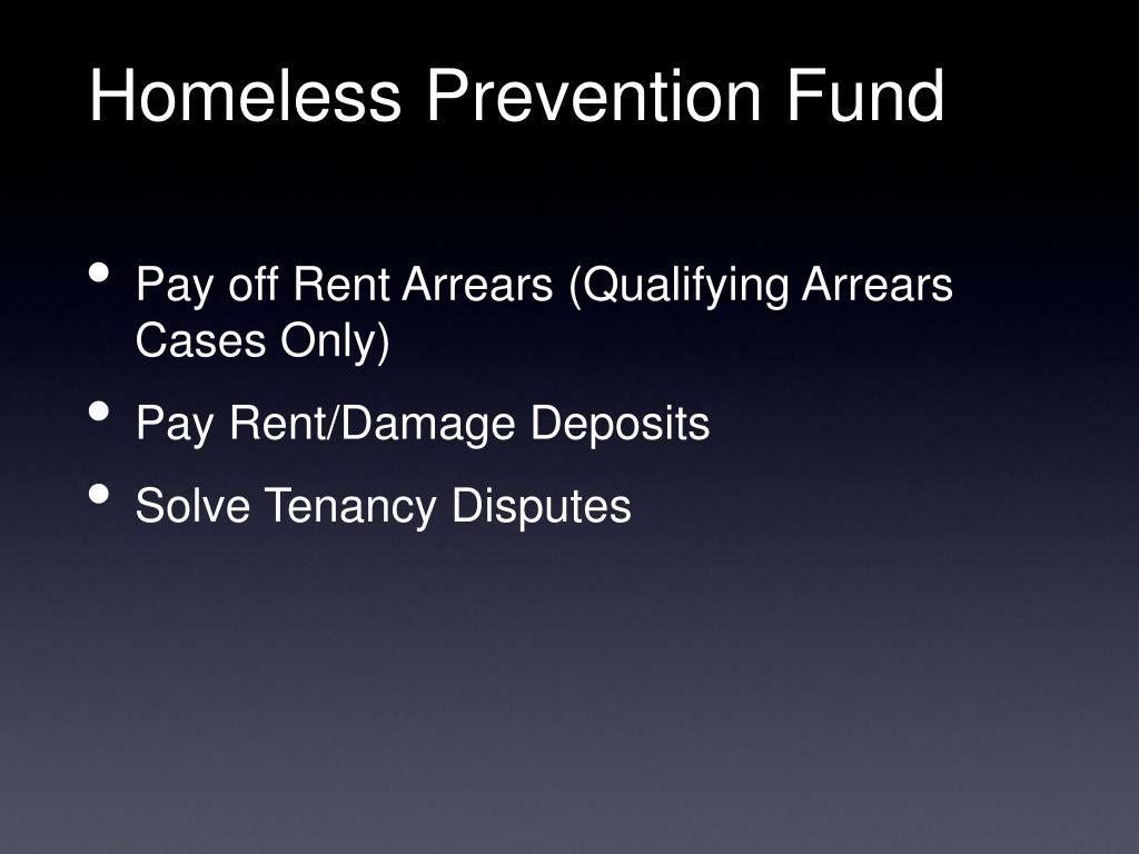 Homeless Prevention Fund