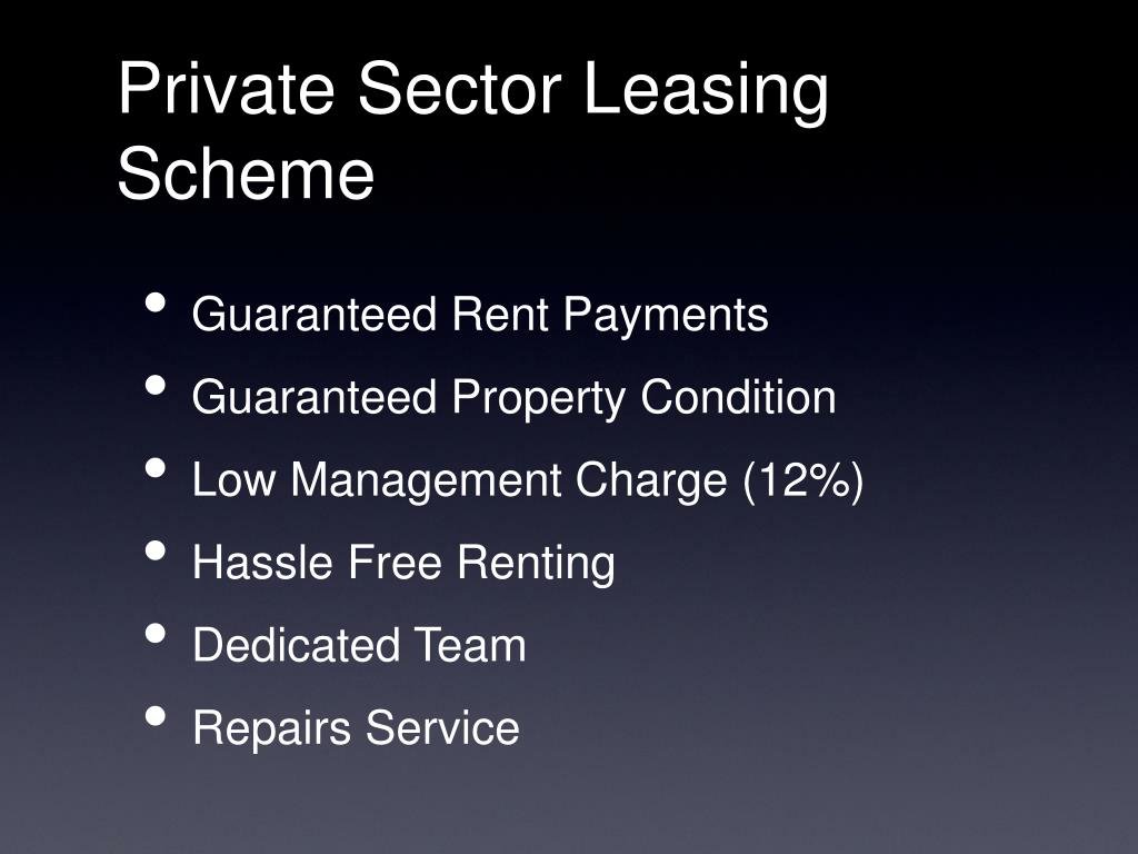 Private Sector Leasing Scheme