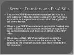 service transfers and final bills