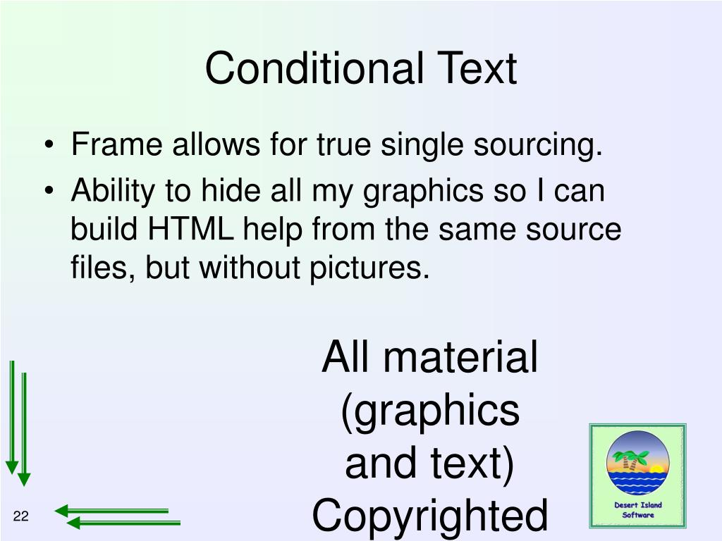 Conditional Text