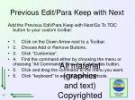 previous edit para keep with next