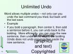 unlimited undo