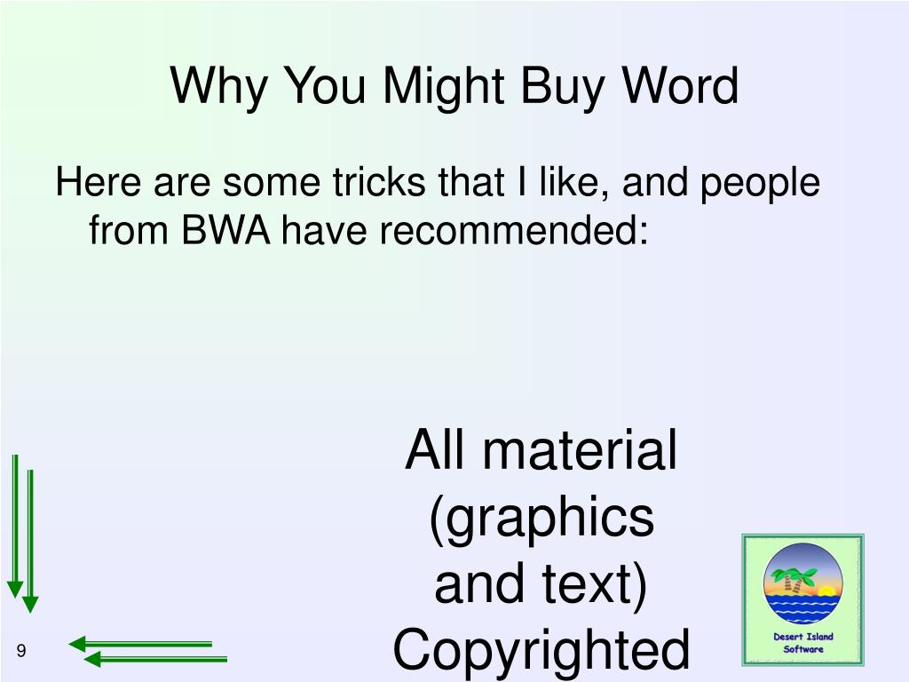 Why You Might Buy Word