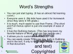 word s strengths
