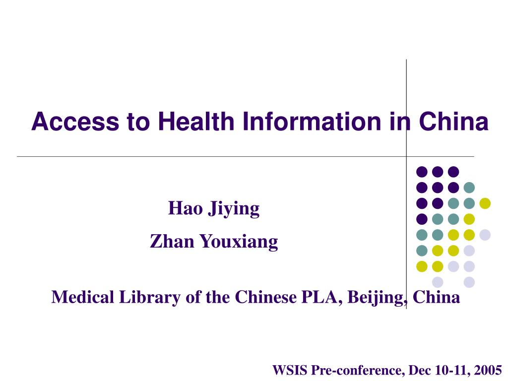 access to health information in china l.