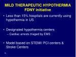 mild therapeutic hypothermia fdny initiative