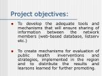 project objectives7