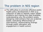 the problem in nis region