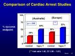 comparison of cardiac arrest studies15