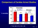 comparison of cardiac arrest studies16