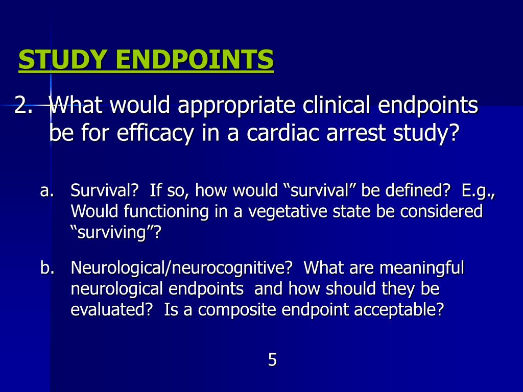 STUDY ENDPOINTS