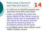 police keep a record of each stop and search