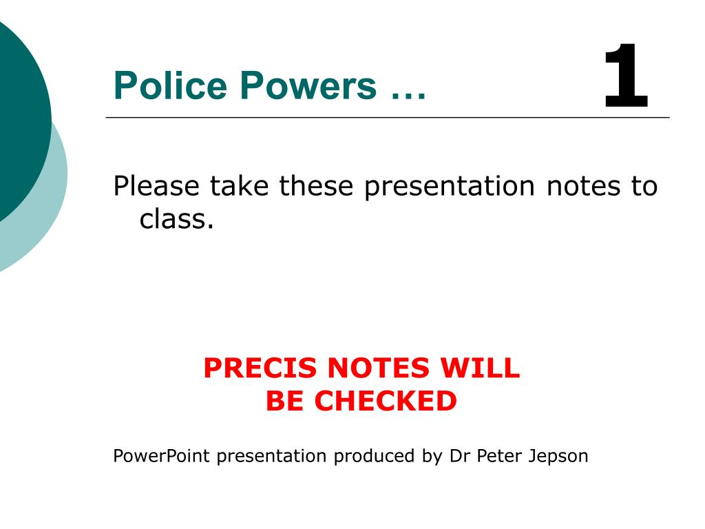 police powers l.