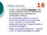 powers of arrest