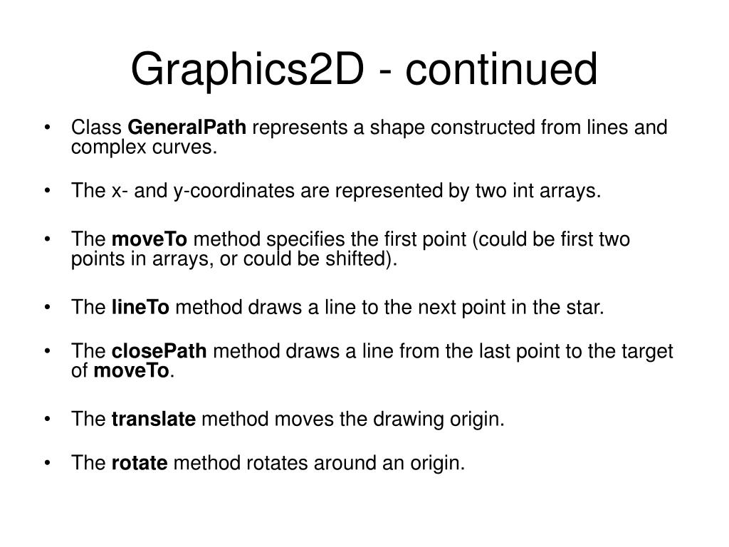 Graphics2D - continued