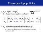 properties lipophilicity