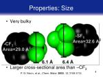 properties size