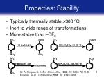 properties stability