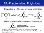 sf 5 functionalized polyimides
