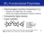 sf 5 functionalized polyimides33