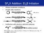 sf 5 x addition et 3 b initiation
