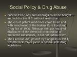social policy drug abuse