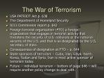 the war of terrorism