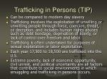 trafficking in persons tip