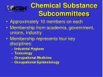 chemical substance subcommittees