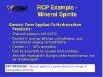 rcp example mineral spirits