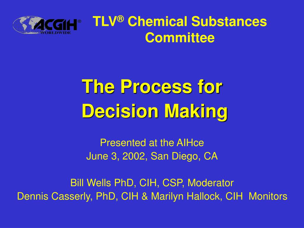 tlv chemical substances committee l.